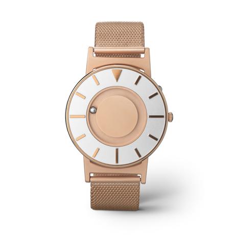 触る時計『EONE』|《MESH GOLD/2色》なめらかな装着感のメッシュバンド、触って時間を知る時計| EONE
