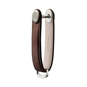 『鍵収納』をデザインする|《オール本革》もうドア前で迷わない。「鍵収納」を追求したスリムなキーケース|Orbitkey|Espresso / Brown