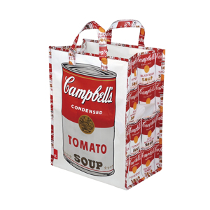 "《Campbell's Soup Cans》おしゃれなバッグがゴミ箱に。外で出たバーベキューのゴミを""カッコよく""持ち帰る|ROO Garbage"
