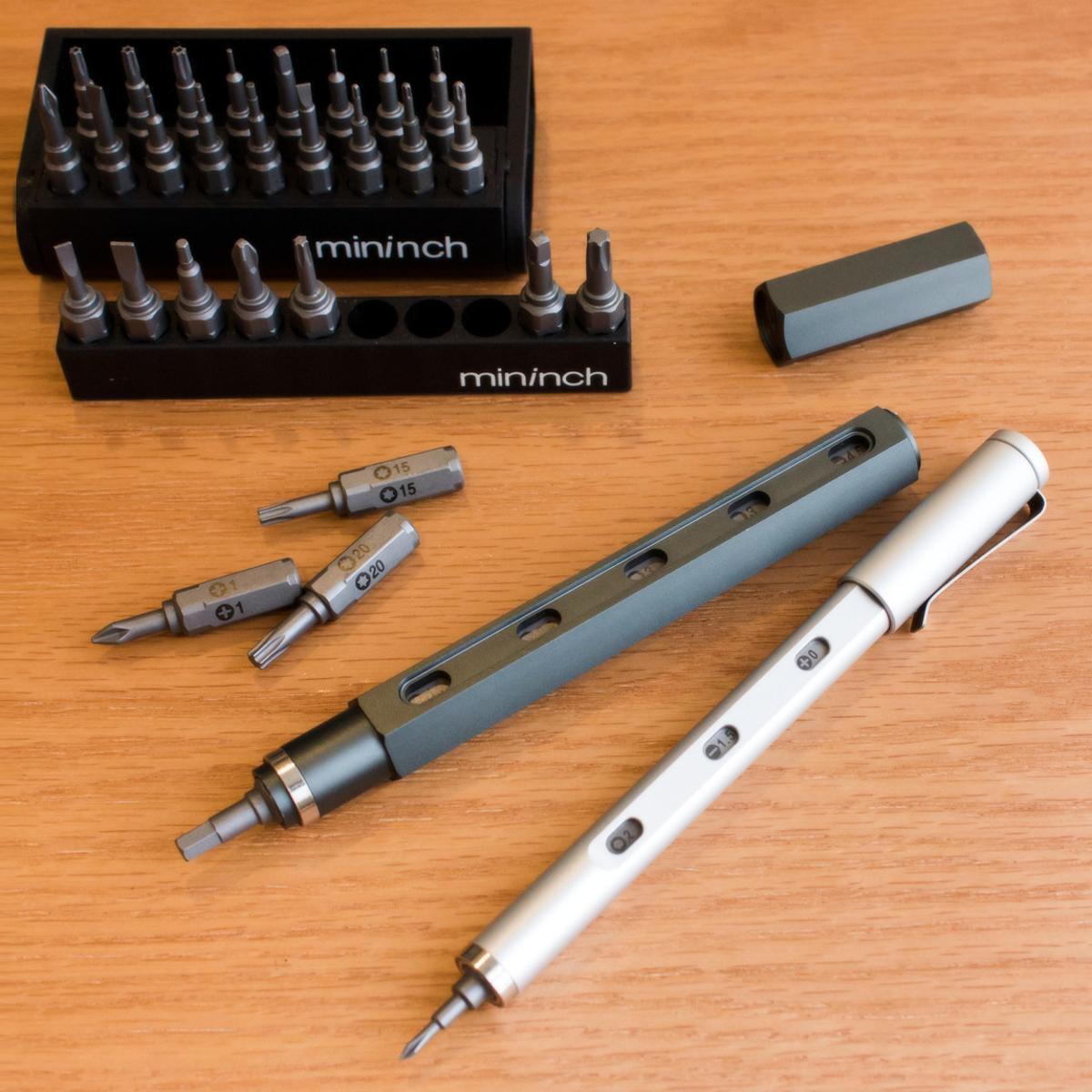"""持っているだけで""""ステイタス""""な工具 《ツールペンミニ》まるでロケット鉛筆、先端ビットを次々交換できる世界初の工具 mininch"""