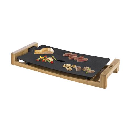 """""""美しい食器""""のようなホットプレート 《3〜4人用》遠赤外線効果で、切っただけの食材がご馳走に。調理過程も""""まるごと""""楽しめるホットプレート   Table Grill Stone / Black"""