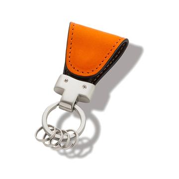 いつも「鍵」はそこにある|《イタリアンレザー》もう迷子にならない、「鍵」の定位置が見つかるマグネット付きキーホルダー|orange