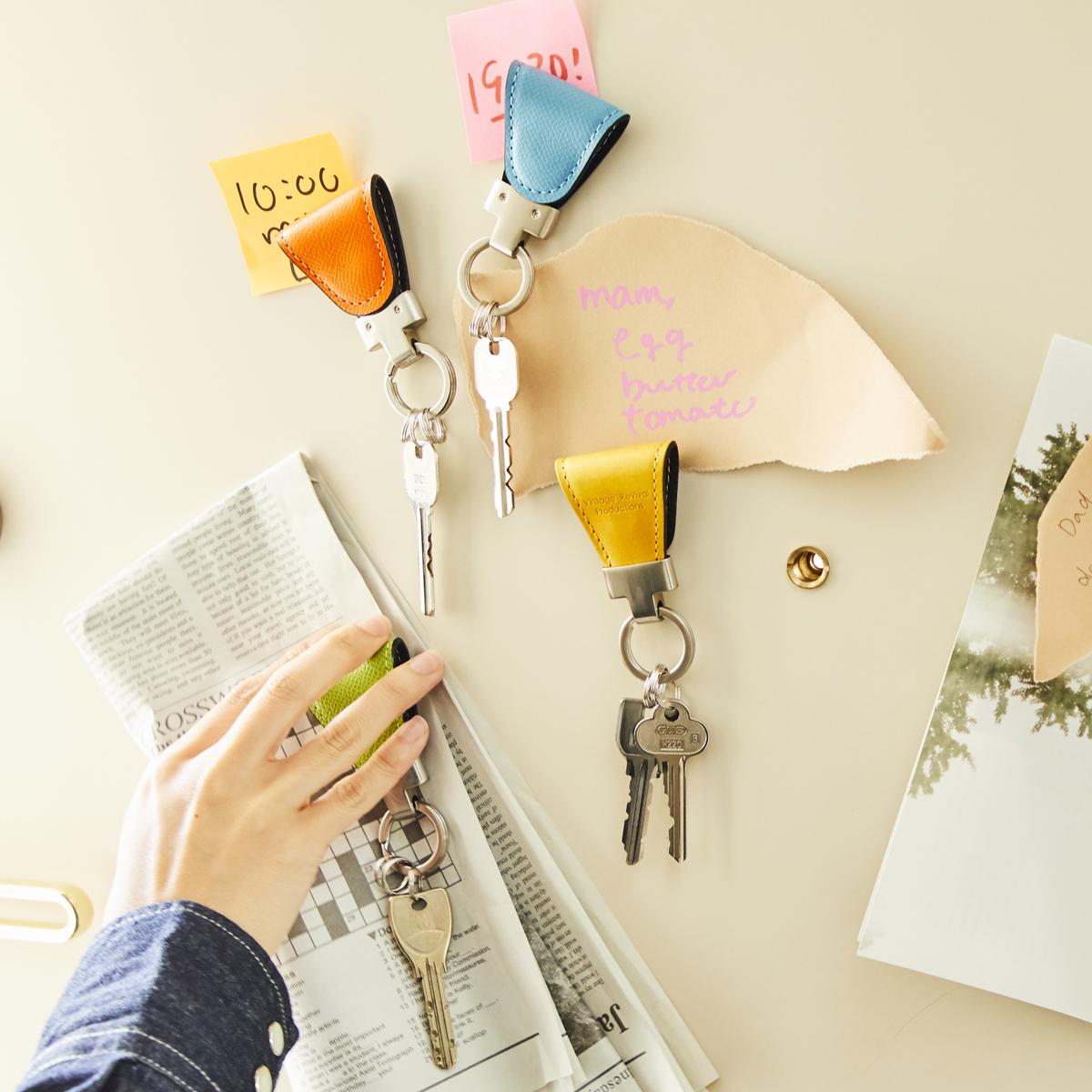 いつも「鍵」はそこにある|《イタリアンレザー》もう迷子にならない、「鍵」の定位置が見つかるマグネット付きキーホルダー