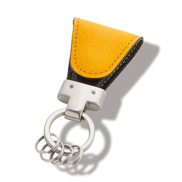 いつも「鍵」はそこにある|《ジャーマンカーフ》もう迷子にならない、「鍵」の定位置が見つかるマグネット付きキーホルダー|yellow