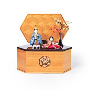 《六角形/大》7つの日本伝統工芸をコンパクトにした、木目込の「プレミアム雛人形」※第一期受注分 | 宝想雛