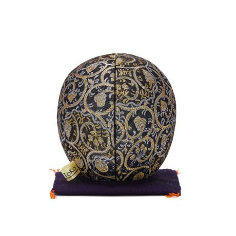 福よこいこい『招福だるま』|《西陣織り・3色》伝統の木目込み技術とモダンデザインが出逢った願掛けだるま|黒