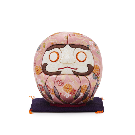 福よこいこい『招福だるま』|《西陣織り・3色》伝統の木目込み技術とモダンデザインが出逢った願掛けだるま|桃
