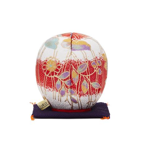 福よこいこい『招福だるま』 《友禅・2色》伝統の木目込み技術とモダンデザインが出逢った願掛けだるま 紅白