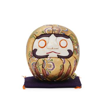 《友禅・2色》伝統の木目込み技術とモダンデザインが出逢った願掛けだるま
