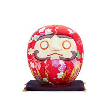 福よこいこい『招福だるま』|《友禅・2色》伝統の木目込み技術とモダンデザインが出逢った願掛けだるま|紅白