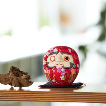 福よこいこい『招福だるま』|《友禅・2色》伝統の木目込み技術とモダンデザインが出逢った願掛けだるま