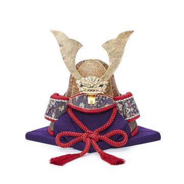 毎年の幸せを願う「五月人形」|《六角形・大》6つの日本伝統工芸をコンパクトにした、木目込の「プレミアム兜飾り」| 宝輝|