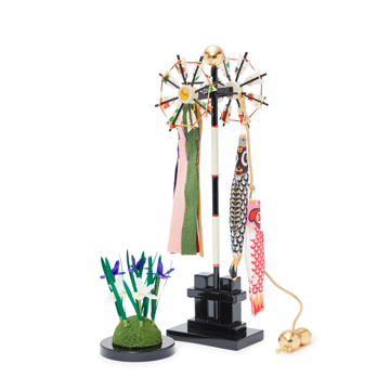 毎年のしあわせを願う「五月人形」|MONOCO限定《六角形/大》6つの日本伝統工芸をコンパクトにした、木目込の「プレミアム兜飾り」※第四期受注分 | 宝輝