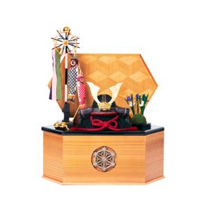 MONOCO限定《六角形/中》7つの日本伝統工芸をコンパクトモダンにした、江戸木目込の「プレミアム兜飾り」※第一期受注分|柿沼人形|宝輝