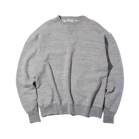 100年前のスウェット、復刻|《TOP GRAY/トレーニングシャツ》腕元をすっきりと見せる独自のディテール、スポルディング社の名作から再構築されたスウェット|A.G. Spalding & Bros