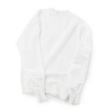 100年前のスウェット、復刻|《WHITE/トレーニングシャツ》腕元をすっきりと見せる独自のディテール、スポルディング社の名作から再構築されたスウェット|A.G. Spalding & Bros|M
