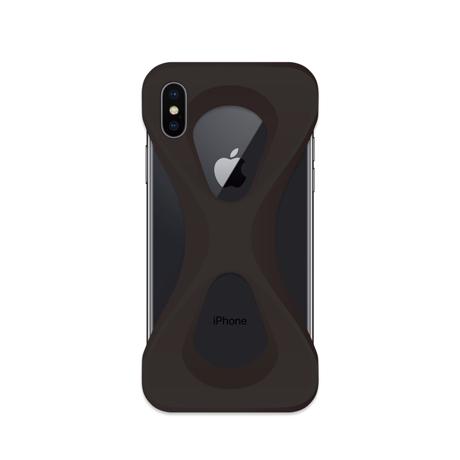 "iPhoneは、""指1本""で落とさない|iPhoneX / XS用 | 落とす不安から解放され、操作の自由度が広がる iPhone カバー|BLACK"