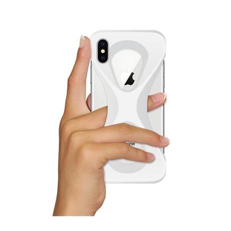 "iPhoneは、""指1本""で落とさない|iPhoneX / XS用 | 落とす不安から解放され、操作の自由度が広がる iPhone カバー|WHITE"
