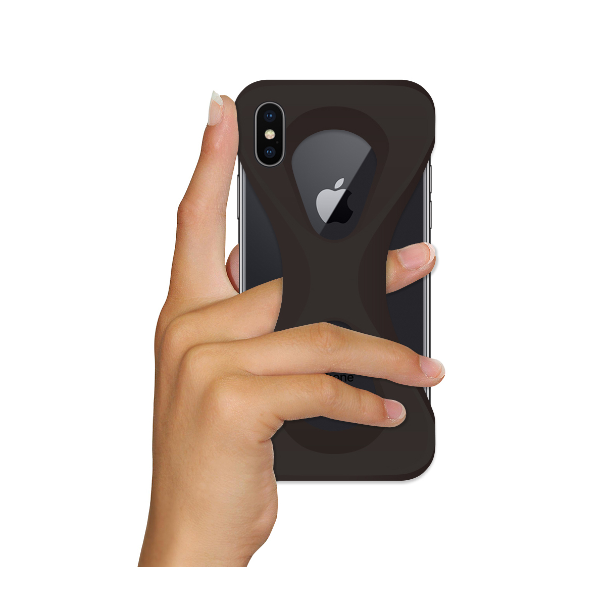 "iPhoneは、""指1本""で落とさない|iPhoneX / XS用 | 落とす不安から解放され、操作の自由度が広がる iPhone カバー"