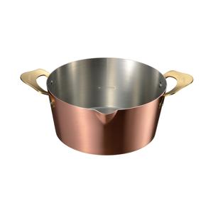 食材を入れても温度をキープ、カラッと上手に揚がる「銅の揚げ物鍋」|ameiro