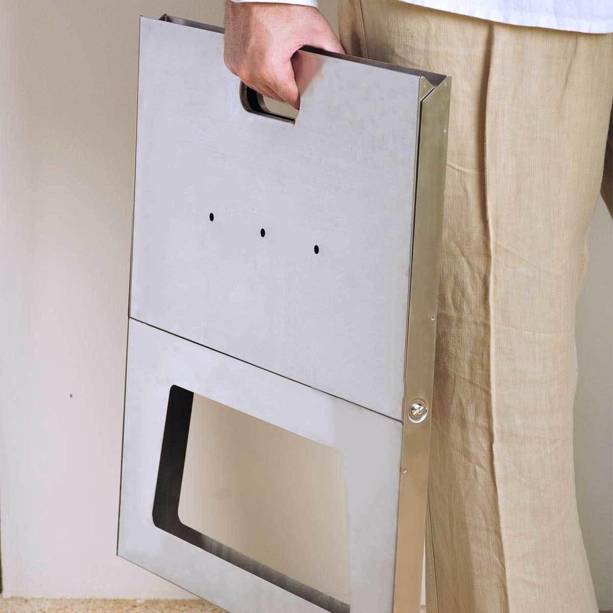 薄さ3cmのバーベキューグリル|《単品》収納も持ち運びもカンタン!畳めるバーベキューグリル|Notebook