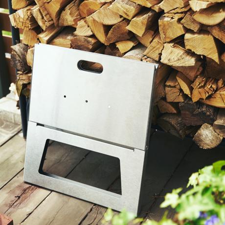 薄さ3cmのバーベキューグリル|《グリル単体》収納も持ち運びもカンタン!畳めるバーベキューグリル|Notebook