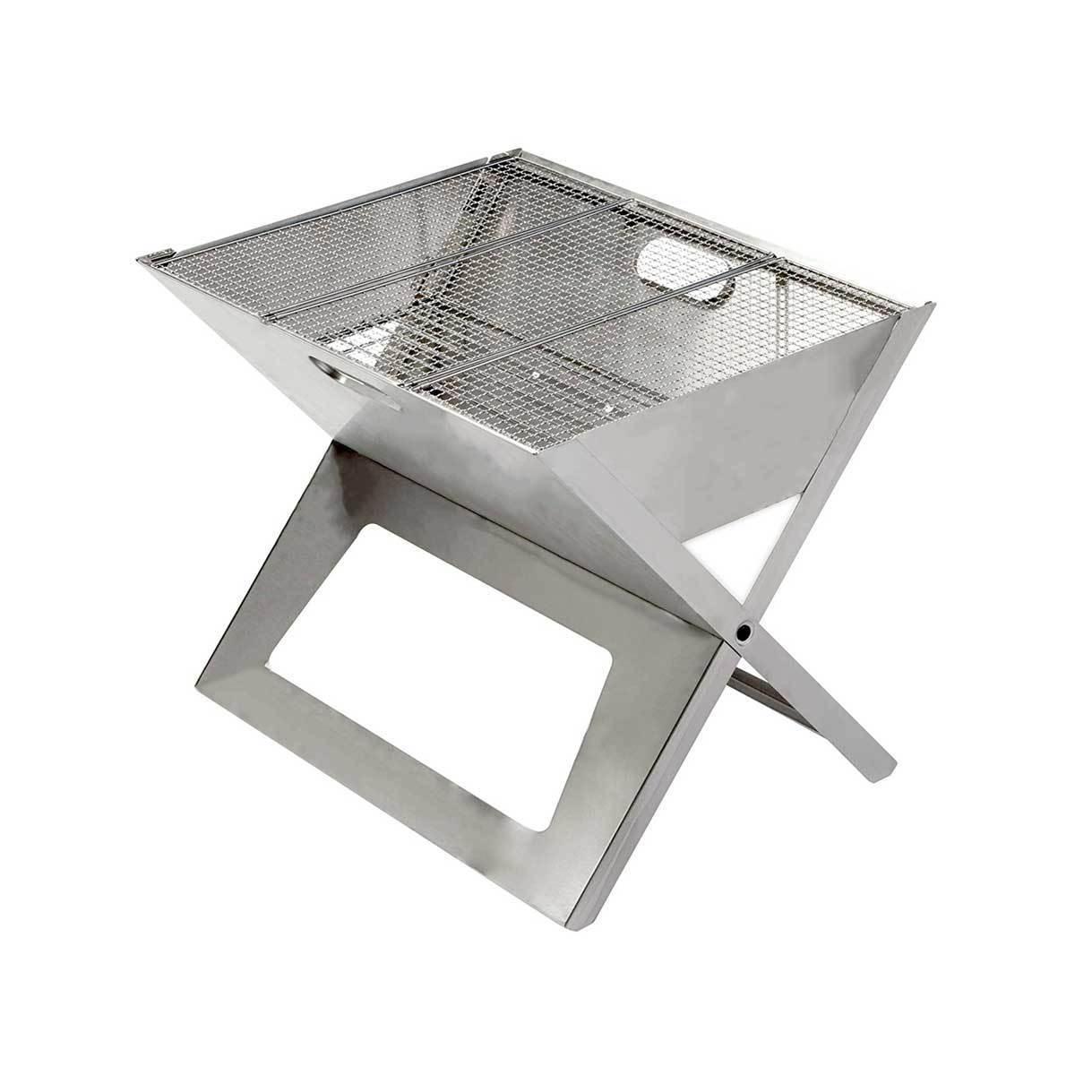 薄さ3cmのバーベキューグリル|《セット》収納も持ち運びもカンタン!畳めるバーベキューグリル|Notebook