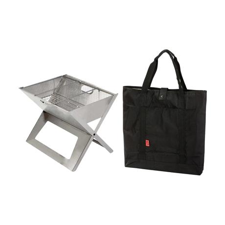 薄さ3cmのバーベキューグリル|《セット》収納も持ち運びもカンタン!畳めるバーベキューグリル|Notebook|
