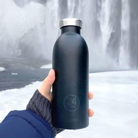 いつでも持ち歩きたくなる「マイボトル」|驚異の保冷24時間、保温12時間 – 環境にも優しい、スタイリッシュなイタリアデザイン・ステンレスボトル | CLIMA BOTTLE 500ml|Black