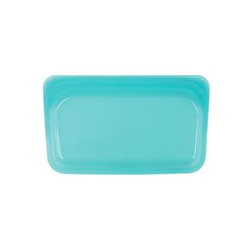 3000回加熱・冷凍できる密閉シリコンバッグ|《293.5ml/スナック》食材の密閉保存から調理まで、これひとつでOK!繰り返し使えるマルチバッグ|stasher|アクア(ブルー)