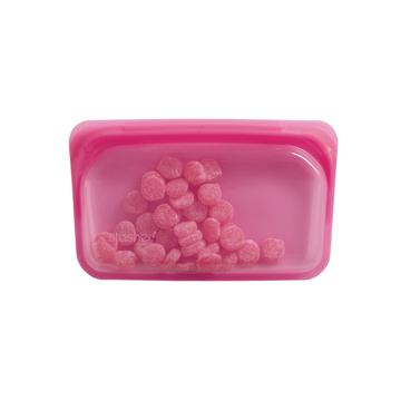 3000回加熱・冷凍できる密閉シリコンバッグ|《293.5ml/スナック》食材の密閉保存から調理まで、これひとつでOK!繰り返し使えるマルチバッグ|stasher|ラズベリー(ピンク)