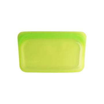3000回加熱・冷凍できる密閉シリコンバッグ|《293.5ml/スナック》食材の密閉保存から調理まで、これひとつでOK!繰り返し使えるマルチバッグ|stasher|ライム(グリーン)