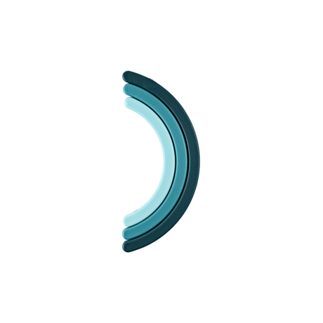 キッチンウエアに機能美を求めるあなたへ|静かに馴染むスタイリッシュな配色。折り畳めるミニマルな鍋敷き | Rainbow Trivet|BLUE