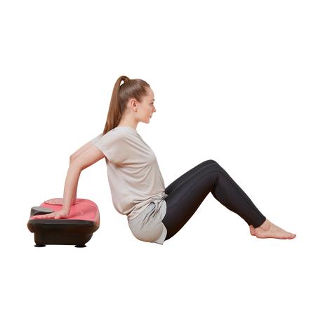 朝ドラを見ながら、15分ブルブル習慣|体幹を鍛えて若々しい体をつくる振動ボード|ドクターエア 3Dスーパーブレード/スマートモデル|BLACK