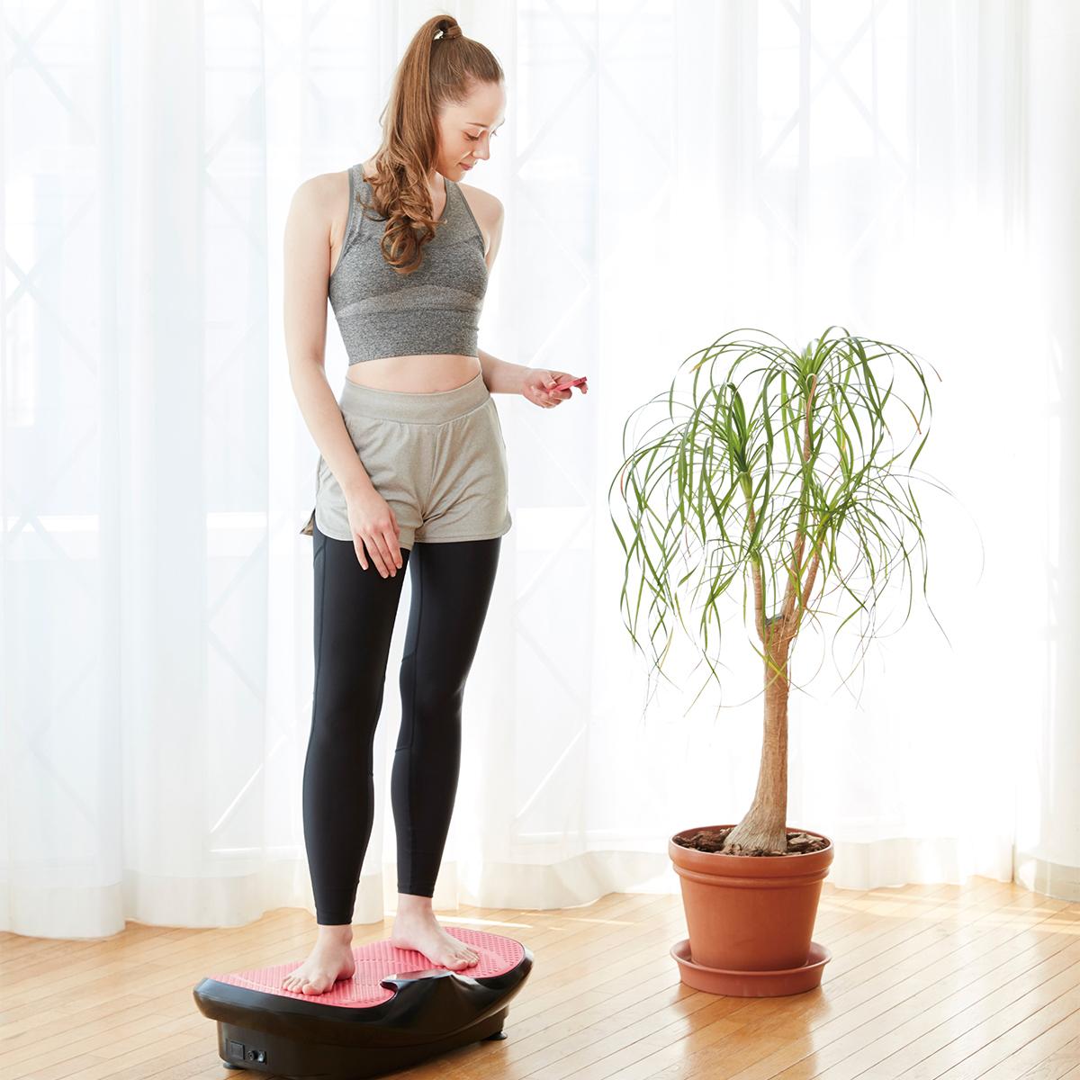 朝ドラを見ながら、15分ブルブル習慣|体幹を鍛えて若々しい体をつくる振動ボード|ドクターエア 3Dスーパーブレード/スマートモデル
