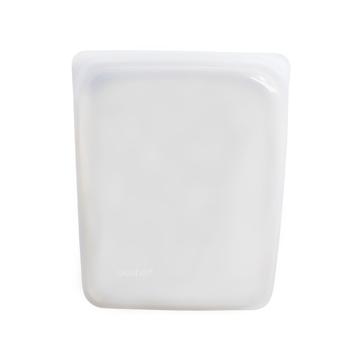 3000回加熱・冷凍できる密閉シリコンバッグ|《1.92L/ハーフガロン》食材の密閉保存から調理まで、これひとつでOK!繰り返し使えるマルチバッグ|stasher|クリア
