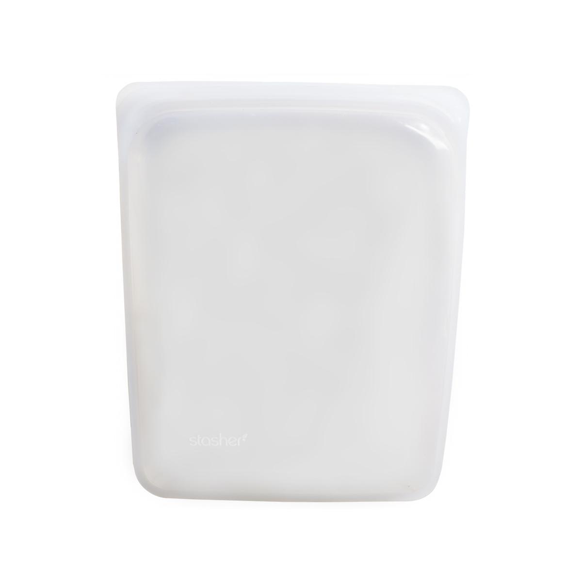 3000回加熱・冷凍できる密閉シリコンバッグ|《1900ml/ハーフガロン》密閉保存から調理まで、これひとつで完結!繰り返し使えるシリコンバッグ|stasher