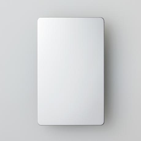 """気持ちに""""余裕""""をもたらす「鏡チェック」 薄さ0.5ミリ、名刺サイズだから、どこでもチェックできる携帯ミラー  MOYÖ USUKAGAMI GREENHEART"""