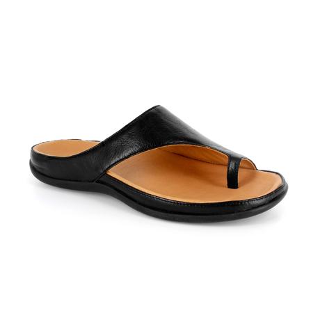 スニーカー感覚で歩き回れる「サンダル」|CAPRIレザーインソール (23-23.5cm) 独自開発の立体インソールで、スニーカーみたいに歩き回れる「サンダル」|strive|Black