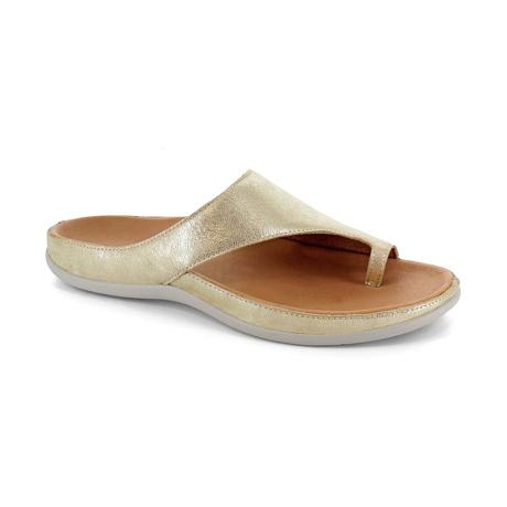スニーカー感覚で歩き回れる「サンダル」|CAPRIレザーインソール (25-25.5cm) 独自開発の立体インソールで、スニーカーみたいに歩き回れる「サンダル」|strive|GoldMetallic