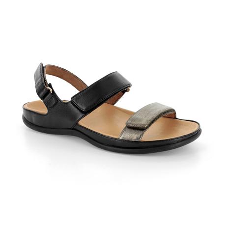 スニーカー感覚で歩き回れる「サンダル」|KONA (24-24.5cm) 独自開発の立体インソールで、スニーカーみたいに歩き回れる「サンダル」|strive|Black/Antracite