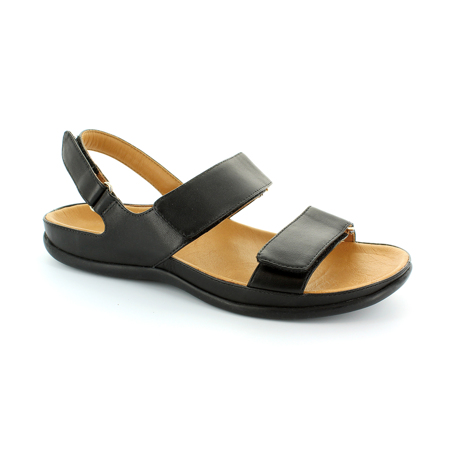 スニーカー感覚で歩き回れる「サンダル」|KONA (24-24.5cm) 独自開発の立体インソールで、スニーカーみたいに歩き回れる「サンダル」|strive|Black