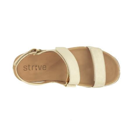 スニーカー感覚で歩き回れる「サンダル」|KONA (24-24.5cm) 独自開発の立体インソールで、スニーカーみたいに歩き回れる「サンダル」|strive|GoldMetallic