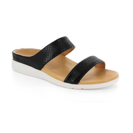 スニーカー感覚で歩き回れる「サンダル」|FARO (23-23.5cm) 独自開発の立体インソールで、スニーカーみたいに歩き回れる「サンダル」|strive|Black-Lizard Skin