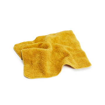 汗をすぐに分解消臭!1日中爽やかなミニタオル|フワッフワの肌触り、汗が臭わない今治ミニタオル|Breeze Bronze|クララ(黄)(完売)