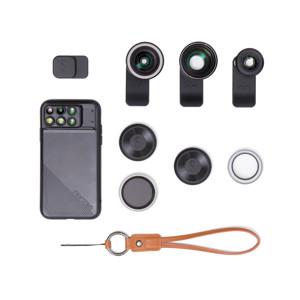 《PROレンズ3種・コンプリートセット(iPhone 7Plus / 8Plus / X対応)》一眼レフのような本格撮影を、iPhoneカメラで実現!「基本セット+PROレンズ3種+レンズバッグ」 | ShiftCam 2.0