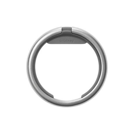 『鍵収納』をデザインする|《Orbitkeyオプション》電子キーもCHIPOLOもスマートに付けられるスライド式リング|Orbitkey Ring silver|チャコール
