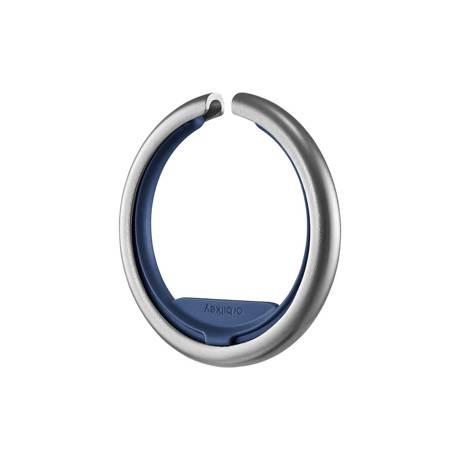 『鍵収納』をデザインする|《Orbitkeyオプション》電子キーもCHIPOLOもスマートに付けられるスライド式リング|Orbitkey Ring silver|ネイビー