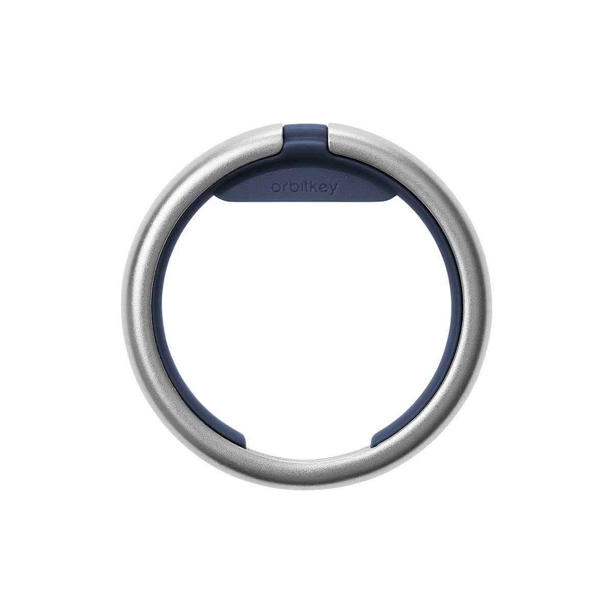 『鍵収納』をデザインする|《Orbitkeyオプション》電子キーもCHIPOLOもスマートに付けられるスライド式リング|Orbitkey Ring silver