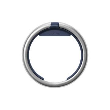 『鍵収納』をデザインする|《Orbitkeyオプション》電子キーもスマートタグも付けられるスライド式リング|Orbitkey Ring silver
